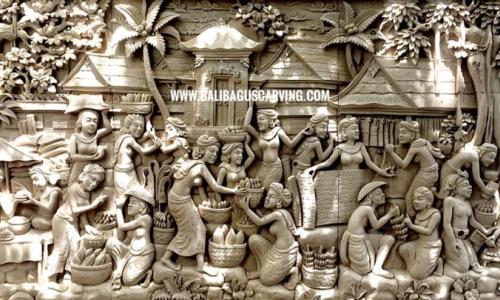 Stone carving bali activity