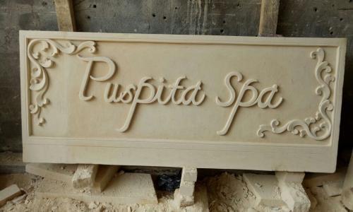 Spa Signage Stone