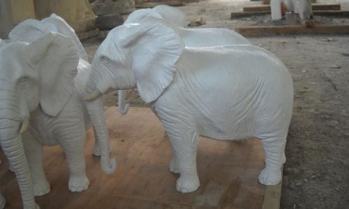 FIBER & CEMENT STATUE  ELEPHANT