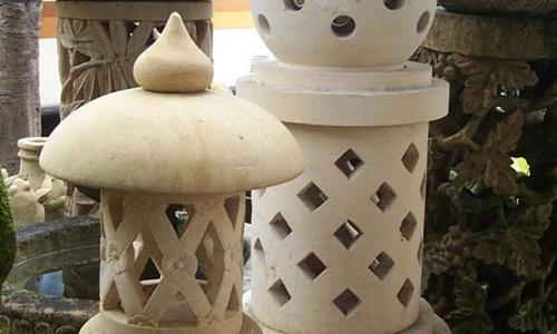 Balinese Hairy Hat Garden Lantern