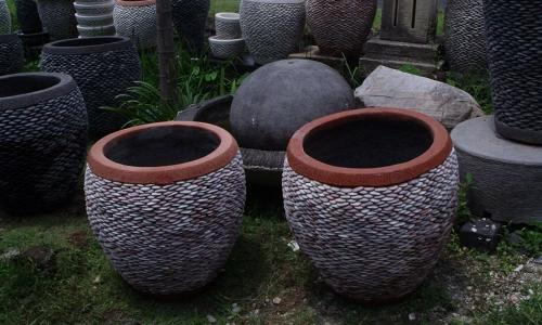 Balinese Stone Planter Pots