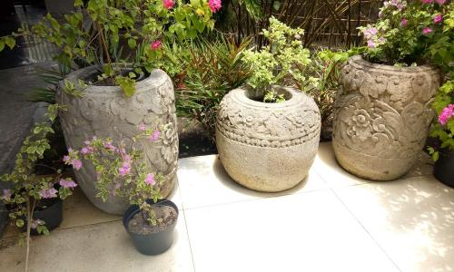 Hand Carved Stone Pots