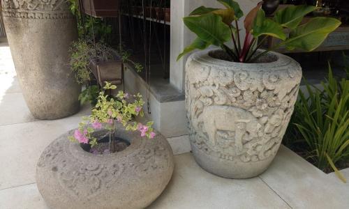 Large Stone Flower Planters