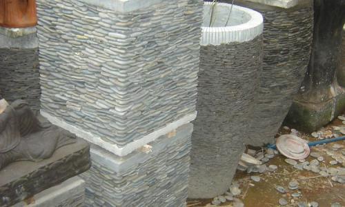 Stone Garden Pot Stands