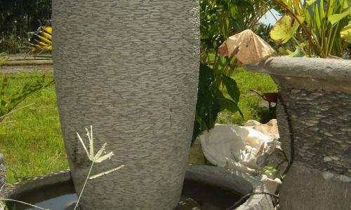 Balinese Stacked Stone Pots