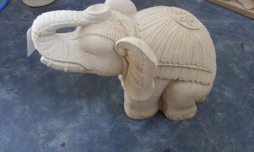 Bali Stone Carving Panel Elephant