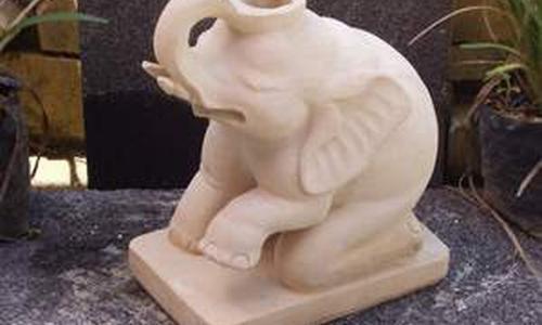 Balinese Carving Stone Elephant