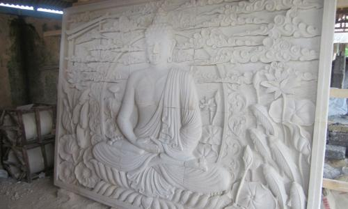Balinese Wall Relief Buddha