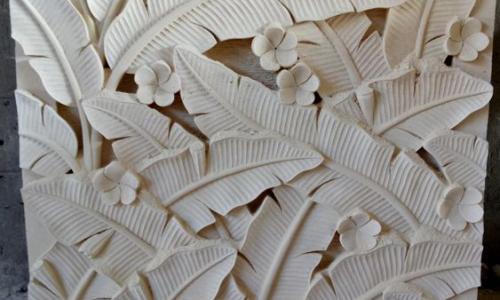Balinese Stone Wall Carvings