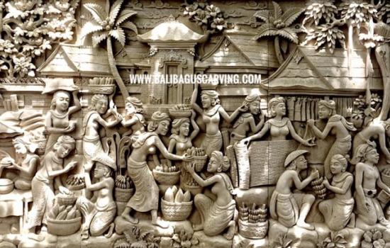 Stone carving bali activity