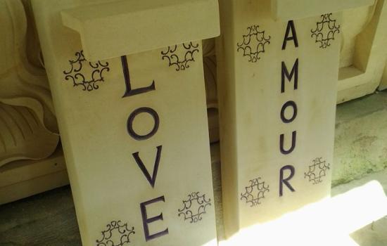 Carved Stone Address Sign