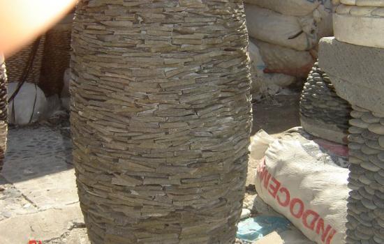 Faux Stone Planter Pots