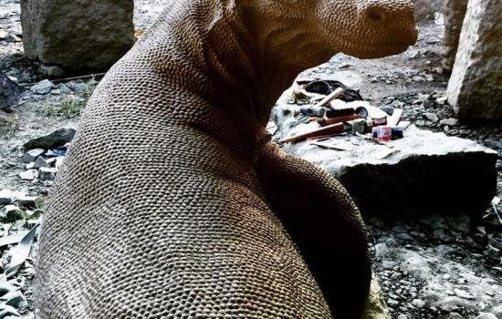 Bali Sculptures Dog Statues