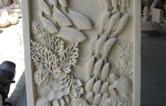 Canyon Stone Wall Panel Fish