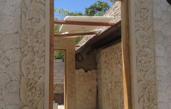 stone garden pagoda lantern Door