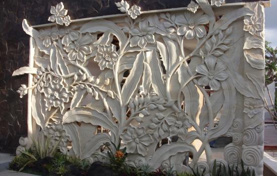 Leaf Motif Relief
